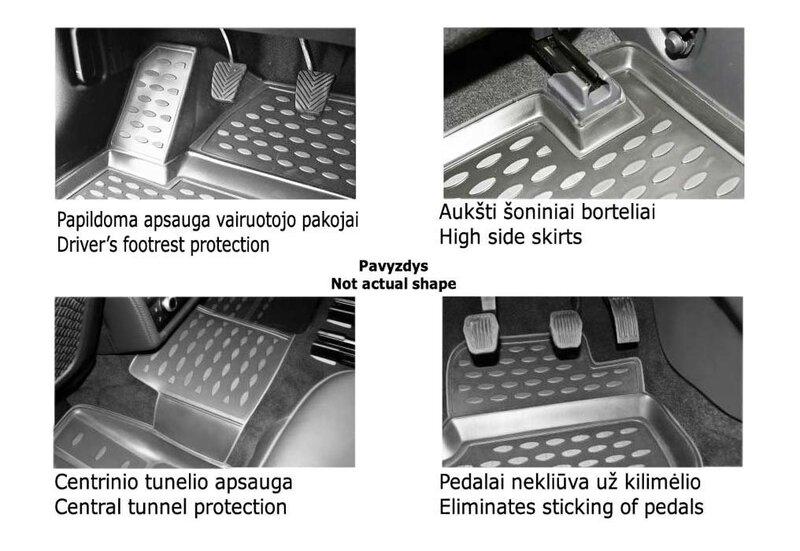 Kummimatid 3D NISSAN Pathfinder 2014-> 5 pcs. /L50053G /gray