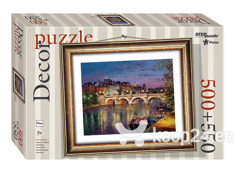 Plastikust pusle pilidraamiga Step Puzzle Pariis, 500+550 osa