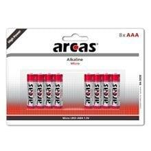 Patareid ARCAS Alkaline 1,5V LR03/AAA, 8 tk