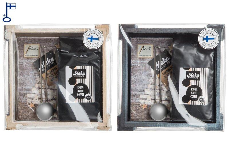 Подарочный набор - кофе с чайной ложкой, столовые салфетки