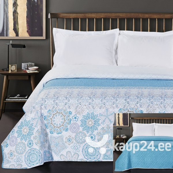 Kahepoolne voodikate Alhambra Turquoise Blue, 220x240 cm hind ja info | Voodikatted, pleedid | kaup24.ee