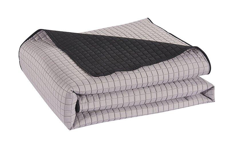 Kahepoolne voodikate Paul Steel Black, 170x210 cm Internetist