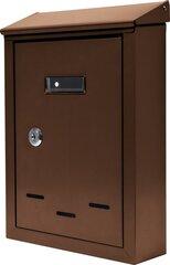 Почтовый ящик 280x200x60 мм коричневый Vorel 78542 цена и информация | Почтовые ящики | kaup24.ee