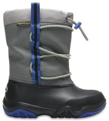 Poiste saapad Crocs™ Swiftwater Waterproof Boot, Black / Blue Jean