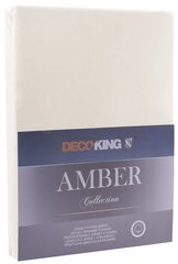 Kummiga voodilina DecoKing Jersey Amber Beige, 140x200 cm