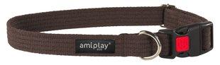 Reguleeritav kaelarihm lukuga Amiplay, S, pruun