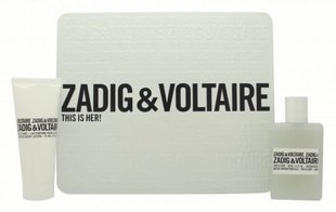 Komplekt Zadig & Voltaire This is Her!: EDP naistele 50 ml + ihupiim 75 ml