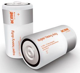 Patareid ACME R20 Super Heavy Duty Batteries D/2 tk