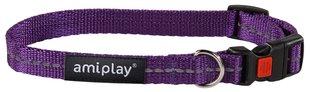 Kaelarihm lukuga Amiplay Reflective, M, violetne