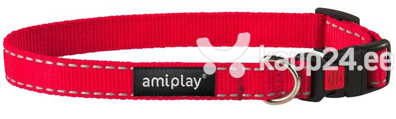Kaelarihm lukuga Amiplay Reflective, XL, punane