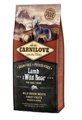 Kuivtoit koertele Carni Love Lamb & Wild Boar for Adult 12kg + 2 kg
