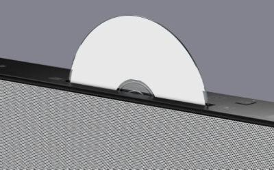 Ülaosas on varustatud CD-mängija