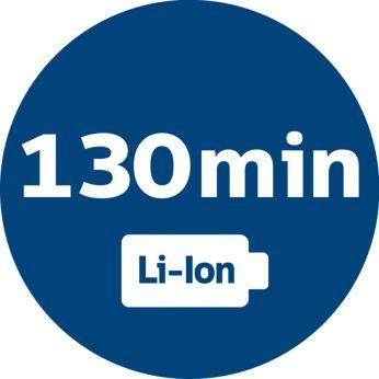 Galingos ličio jonų baterijos užtenka 130 minučių