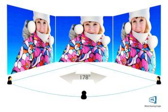 IPS LED plataus matymo kampo technologija tiksliai perteikia vaizdą ir spalvas